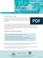 Joint Working for Public Service Delivery - A model of collaborative working