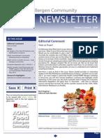 AOAC Food Allergen Community Newsletter 2014_Issue 3