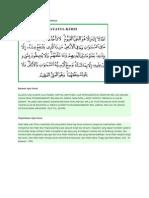 Lafadz Ayat Kursi Dan Terjemahanya