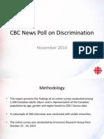Sondage d'opinion commandé par CBC