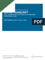 Q4FY14 Conference Call Transcript FINAL