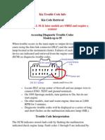 Kia Trouble Code Info