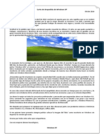 Carta de Despedida Windows XP