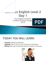 Business English Level 2 Day 1