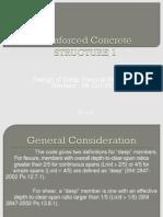 7 Design of Deep Flexural Member