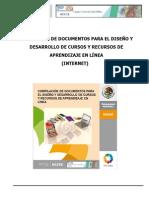 Compilación de Documentos Para El Diseño y Desarrollo de Cursos y Recursos de Aprendizajes en Línea