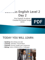 Business English Level 2 Day 2
