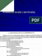Anestezia locala -terminala