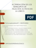 Caracterización de Los Semilleros de Investigación