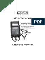 167 082A GB, Manual, MDX 300 Series