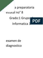 EXAMEN DIAGONOSTICO