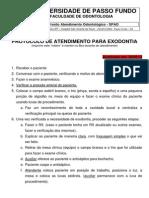 Protocolo exodontia