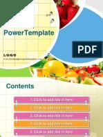 Fresh fruit PPT template.ppt