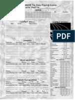 KidWorld Combat Sheet