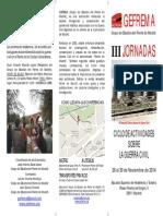 III Jornadas sobre la Guerra Civil Española (Gefrema)