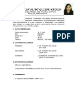 Curriculum Vitae Jhosselin Quispe