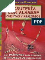 Revista Crea Con Patrones Bisuteria Con Alambre Cuentas y Abalorios