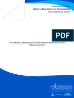 Pre Factibilidad y Directrices Para La Implementación Del Turismo en El REM