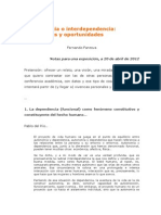 Dependencia o Interdependencia. Limitaciones y Oportunidades (2012)