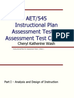 aet 545 - assessment tests instructional goals