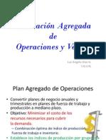 Planeación Agregada de Operaciones y Ventas