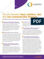 The Link Between Food, Nutrition, Diet and Non-communicable Diseases