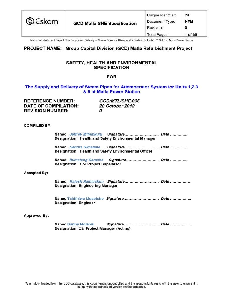 74 she specification matla reheat attemperator scope boiler rh scribd com