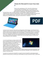 Office 365 Par Les Clients De Microsoft ? Leurs Veux Liste Des Am?liorations