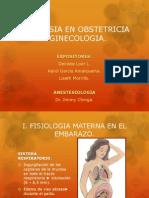Anestesia en Obstetricia y Ginecologia