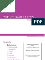 Estructura de La Tesis Final