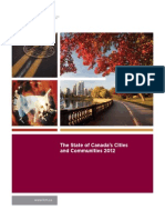 The State of Canada's Cities and Communities, 2012 FCM