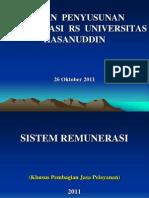 Materi Remunerasi Jasa RS Unhas 2011