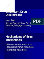 Important Drug Interactions
