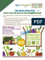 Two Bridges Winter Fresh Food Box Program