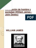 Concepción de Hombre y Sociedad (William James y John Dewey)