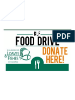 Food Drive Publicity Poster