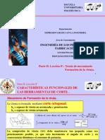 II-08.- Teoria de Mecanizado. Formacion de Viruta
