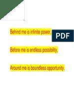 Behind Me is Infinite Power