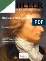 Safranski Rudiger - Schiller O La Invencion Del Idealismo Aleman