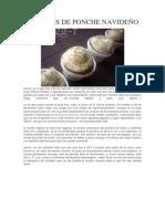 Cupcakes de Ponche Navideño