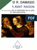 Spinoza Avait Raison - Antonio R. Damasio