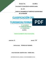 CLASIFICACION DEL TURISMO ALTERNATIVO