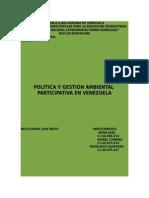 La Política Ambiental Participativa en Venezuela