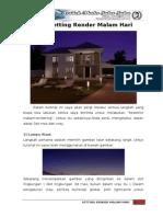 V-Ray Render (Autodesk 3DS Max) - Tutorial Setting Render Malam Hari