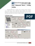 V-Ray Render (GOOGLE SketchUp) - Setting Dasar Material Kaca