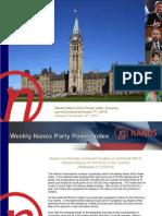 Nanos Political Index 2014-11-07