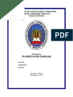 Monografía Planificación Familiar