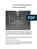 V-Ray Render (Autodesk 3DS Max) - Penggunaan v-Ray Global Illumination GI (Pencahayaan Realistik)