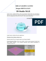 V-Ray Render (Autodesk 3DS Max) - Membuat Light Caustics Menggunakan Mental Ray