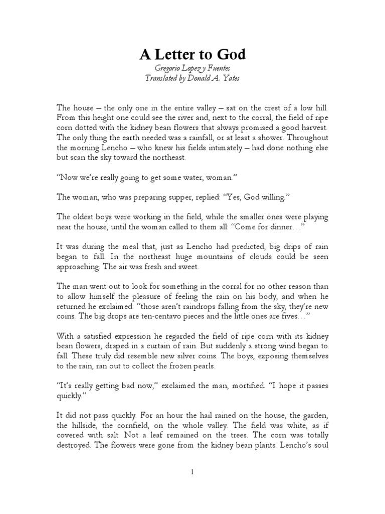 Gregorio Lopez A Letter to God Eng